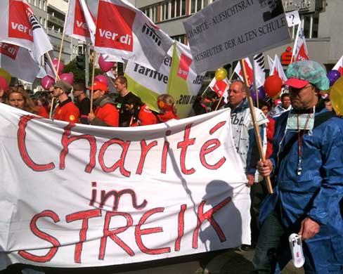 Streik an der Charité