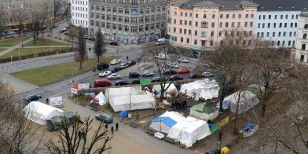 Stimmungslage auf dem Oranienplatz – eine Impression nach dem Spaltungsversuch der Landesregierung