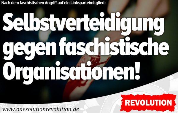 Messerattacke auf Linksparteimitglied: Liebe ersetzt keine Gegenwehr