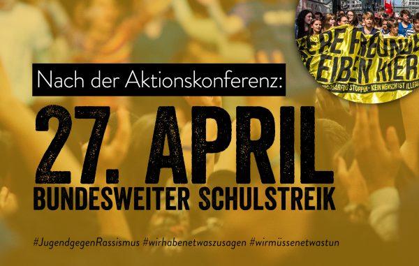 """Antrag zum Treffen der RL: Unterstützung von """"Jugend gegen Rassismus"""""""