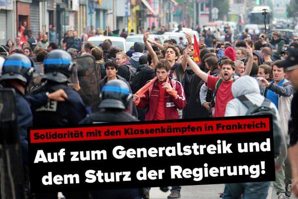 Préparer la grève général: Solidarité avec la jeunesse et les travailleurs en lutte