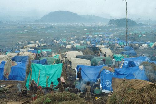 Geflüchtete in Lagern