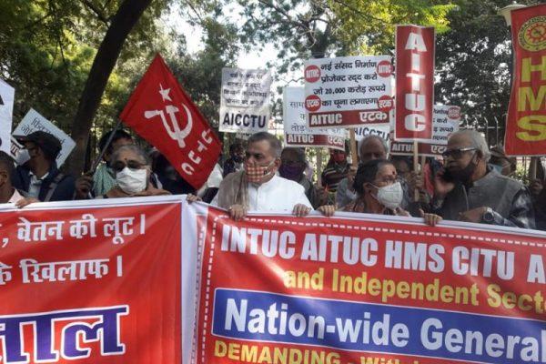 Solidarität mit dem Generalstreik der indischen Gewerkschaften!