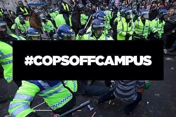 Studentenproteste in Großbritannien: Kick cops off campus!