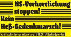 Demo gegen Rudolf Heß-Gedenkmarsch